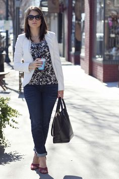 jeans and a blazer -