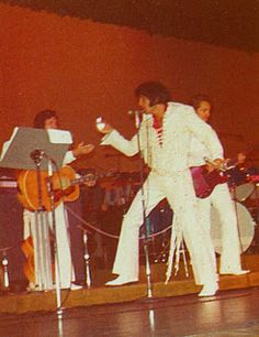 Lake Tahoe, July 1971, wearing the White Sleek Suit from Fdebruary 1970