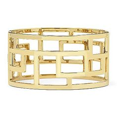 .: Geometric Cuff Bracelet :. $12