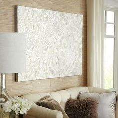 If I decide against the full mirror, maybe this on the side of the med cabinet Floral Capiz Wall Panel