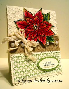 BURLAP AND PEARLS... by Karen B Barber - Cards and Paper Crafts at Splitcoaststampers