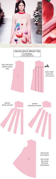 Tutorial // Swing back briar tee dress