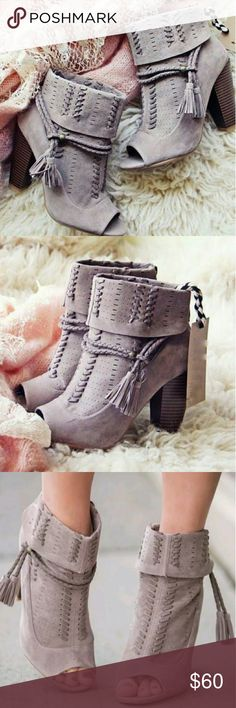 💖Coming Soon!💖 Adorable booties These adorable booties are on their way!! They will be available for purchase within the next 5 business days. They will be listed at $60 with offers welcome. Only one pair will be available in size 9. The above photos are stock photos. More photos will be available of the actual boots once available for sale. Shoes Ankle Boots & Booties