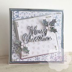 Chloes Creative Cards added a new photo. Die Cut Christmas Cards, Creative Christmas Cards, Christmas Tea, Christmas Stickers, Xmas Cards, Handmade Christmas, Christmas Crafts, Crafters Companion Christmas Cards, Chloes Creative Cards