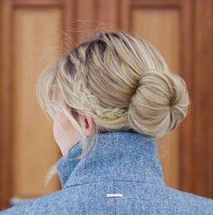 45 Pretty Ideas for Casual and Formal Bun Hairstyles – Bun Hairstyles Roll Hairstyle, Bun Hairstyles For Long Hair, Short Bob Hairstyles, Formal Hairstyles, Afro Hairstyles, Medium Hair Styles, Short Hair Styles, Formal Bun, Haircut Tip