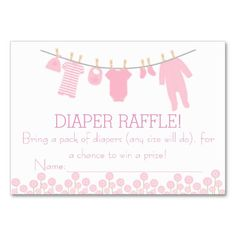 Lavender Little Clothes Diaper Raffle Tickets Large Business Cards (Pack Of Baby Sprinkle Games, Baby Sprinkle Invitations, Custom Baby Shower Invitations, Baby Shower Fun, Baby Shower Themes, Shower Ideas, Sprinkle Shower, Pack Of Diapers, Diaper Raffle Tickets