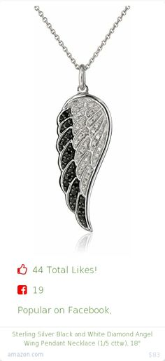 Top christmas gift on Facebook.  Top christmas gift on undefined 44 people likes on Internet. 25 thumbs-up on .undefined amazon curated collection amazon christmas gift. sterling silver black and white diamond angel wing pendant necklace 1 5 cttw 18%22 from amazon christmas gifts. http://www.MostLikedGifts.com/top-popular-christmas-gifts/amazom-christmas-gift-B00394F4BY-sterling-silver-black-and-white-diamond-angel-wing-pendant-necklace-1-5-cttw-18%22