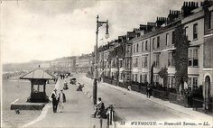 Brunswick Terrace # 52 by LL / Levy. Old Images, Old Photos, Weymouth Beach, Weymouth Dorset, Dorset England, Worlds Largest, Seaside, Terrace, Past