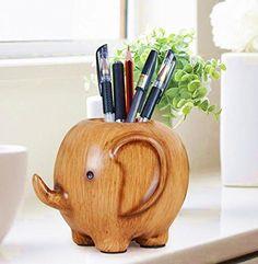 Wood Carving Elephant Pencil Holder Fashion Creative Wooden Pen Holder,Cute Pencil Holder for Desk, http://www.amazon.com/dp/B017P9L9DA/ref=cm_sw_r_pi_awdm_DHZZwb1VM06CM