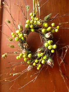 crabapple wreath  love the dried twigs too