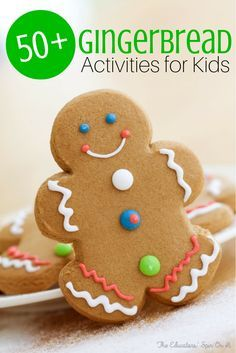 50+ Gingerbread Activities for Kids.  There's just something magical about celebrating the holidays with Gingerbread Men.  Discover a few ways to make your holidays Memorable with Gingerbread Men.