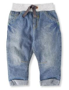 Pure Cotton Pull On Jeans - Marks & Spencer