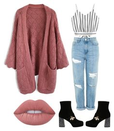 """""""Untitled #28"""" by kimtaehyungkim ❤ liked on Polyvore featuring Chicwish, Topshop, Gucci and Lime Crime"""