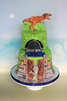 please check the shop announcement for current availability   This listing is for edible fondant 2D Dimensional Tyrannosaurus TRex Jurassic world