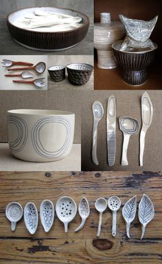 { ceramics with wiggly drawings } White Paint Colors, White Paints, Pottery Wheel, Cute Little Things, Ceramic Pottery, Dinnerware, Shapes, Sculpture, Clay Ideas