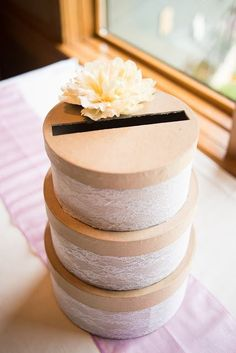 Easy DIY Wedding Card Box - why spend a ton of money on something you will NEVER use again.
