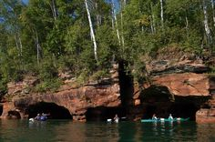 "This spot is known as the ""magic arches."" Image courtesy of Gail Green/Living Adventure. #kayaktheapostles"