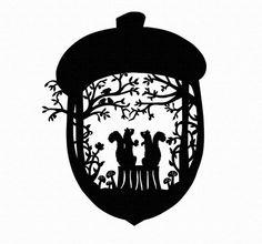 acorn silhouette - Google Search