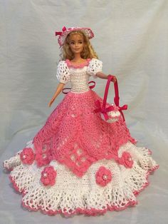 Barbie clothes/elegant barbie gown/ crochet Barbie dress/ birthday gift for her/beaded barbie gown Crochet Barbie Patterns, Crochet Doll Dress, Crochet Barbie Clothes, Doll Clothes Barbie, Doll Clothes Patterns, Barbie Doll, Barbie Wedding Dress, Barbie Gowns, Barbie Dress