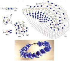 esquema de tejer azul arnés