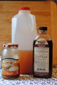 three ingredient hot caramel cider! sooooo good! #fall #recipe