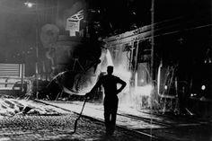 Steel Mill Worker, 1953, Youngstown Steel Mill, Ohio