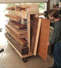 Rolling Lumber Cart Plan. Woodworkersjournal.com