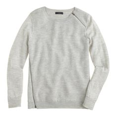 Merino wool asymmetrical zip sweater : Pullover | J.Crew
