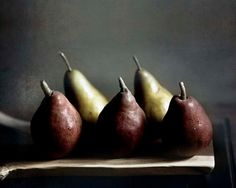 Pears photography, Rustic Autumn Kitchen Decor- Food Still Life- Dark red- golden yellow 8x10 Farm Kitchen via Etsy