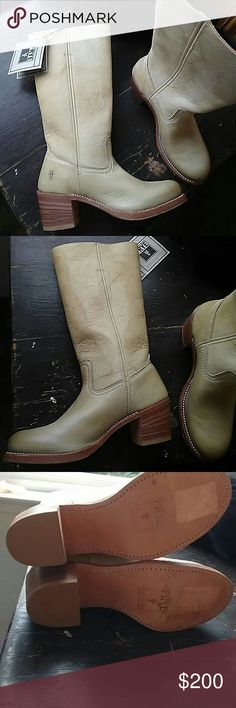 SALE NWT Frye Sabrina 14L pull on tall boot Beauitful NWT FRYE Sabrina tall boot! These are in an ivory color! Frye Shoes Heeled Boots