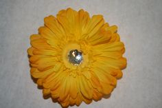 Yellow Flower Hair Clip by MariasBowTique on Etsy, $2.50