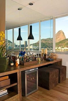 Interior Decorating Plans for your Home Bar Mini Bars, Canto Bar, Decorating Your Home, Interior Decorating, Wine House, Sweet Home, Bars For Home, Decoration, New Homes