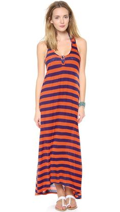 Splendid Marcel Stripe Maxi Cover Up Dress