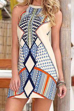 Cupshe Cut To It Geometric Dress