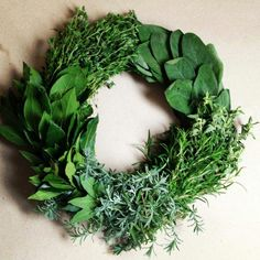 Loving this Herb Wreath!