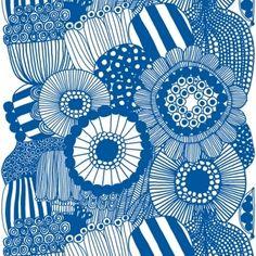 Tessuto Marimekko Siirtolapuutarha, blu