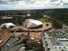 Adelaide.  This is the view from the Stamford Plaza.  The Festival Centre is a great place to see some good shows