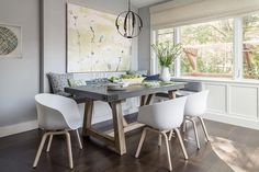 Restoration Hardware Salvaged Wood & Weathered Concrete Beam Rectangular Dining Table