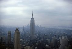 New York New York  -1962 - Empire State Building from RCA Roof Looking South.