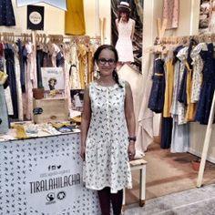 Precioso vestido de Tiralahilacha, de algodón ecológico. Moda Sostenible al mejor estilo vintage. Biocultura Barcelona 2016.