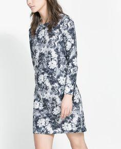 ZARA - WOMAN - PRINTED TECHNICAL DRESS