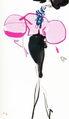 Design & Fashion illustration by Christian Lacroix,