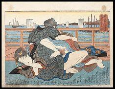 Shunga – Keisai Eisen – Harbour – c.1836.