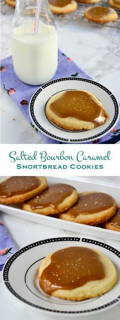 Buttery shortbread and soft caramel are perfectly matched in these salted bourbon caramel shortbread cookies. A delicious addition to any holiday party. @Bob's Red Mill #BobsHolidayCheer #ad