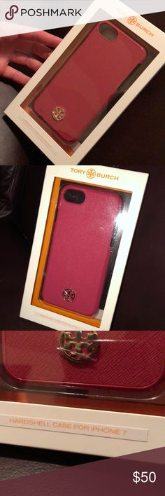 Tory Burch iPhone 7 case Pink hardshell iPhone 7 case. NOT for iPhone plus. I've never opened it. It's brand new Tory Burch Accessories Phone Cases
