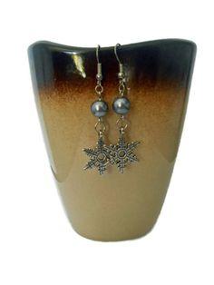 Boucles d'oreille perle et flocon de neige : Boucles d'oreille par couleur-grenadine33