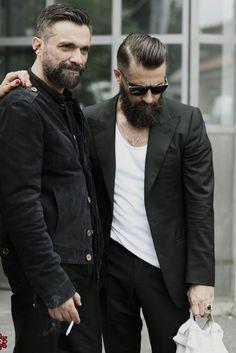 black + white, rugged menswear style + fashion //