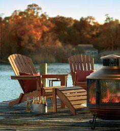 Evenings at the lake - rustic cabin fall beauty!