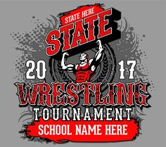Wrestling T Shirt Design High School Wrestling T Shirt