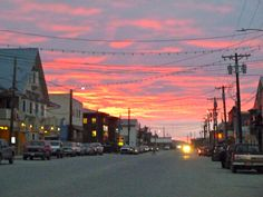 Front Street of Nome, Alaska on a recent autumn morning.